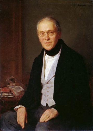 Portrait de Gustav Waagen par Ludwig Knaus, 1855
